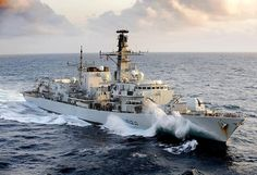 Royal Navy Type 23 Frigate HMS Northumberland by Defence Images, via Flickr
