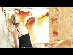 Abstract acrylic painting demo , Acrylmalen abstrakt im Großformat - YouTube