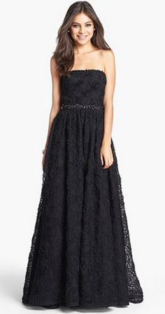 elegant black gown by Adrianna Papell