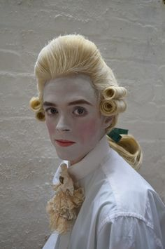 18th century mens wig and makeup