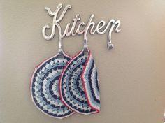 Potholders doublefaced crochet. Dutch style. NL.