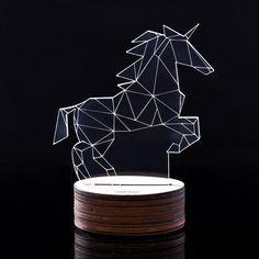 3D Illusion LED Acrylic Unicorn Lamp/Light | Optical Illusion |  Bedroom Decor