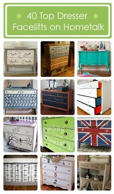 40 #DIY:: THRIFT/VINTAGE DRESSER MAKEOVERS (BY THE BEST) WITH TUTORIALS FOR EACH !!