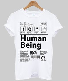 human being shirt