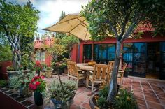 Festive Mexican Patios and courtyards.