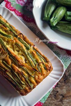 Cake (salato) con zucchini e guanciale