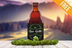 Beer Bottle 2 – Free PSD Mockup