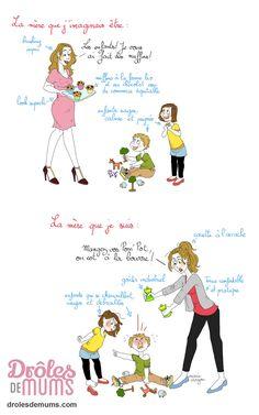 Enceinte, comme on est un peu cinglée par moments, on s'imagine qu'on va être une mère comme ceci-comme-cela. C'est mignon et plein d'espoir. Et puis, après, on n'a plus le temps d'imaginer. On ne peut que constater comme un léger décalage entre celle qu'on voulait être et celle qu'on est devenue. La preuve. Décalage artistique…