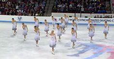 16 chicas salen al hielo. Pero la prestación ha pasmado a millones por todo el mundo.