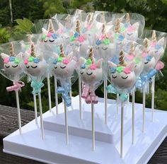 Items similar to Unicorn Themed Cake Pops on Etsy Unicorn Themed Cake, Party Unicorn, Unicorn Cake Pops, Unicorn Themed Birthday Party, Unicorn Baby Shower, Birthday Party Decorations, 2nd Birthday, Unicorn Cakes, Unicorn Horns