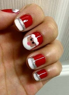 Pretty Christmas Nail Art Designs