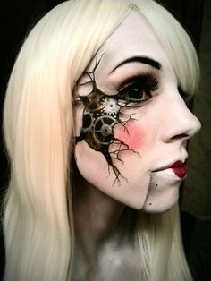 Cool Special Effects Makeup Artist ~ Crack Two