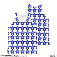 BLUE STARS Tank Top All-Over Print Tank Top