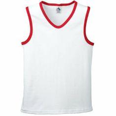 $7.99 cool Ladies Sleeveless Rib Knit Shirt White/Black X-Large