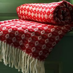Red Cobweave throw. For pattern inspiration