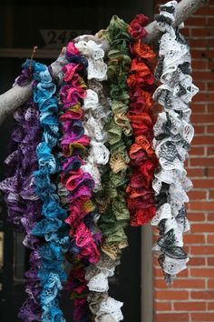 A great tutorial for these scarves