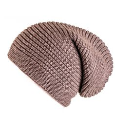 Luxuriously warm, without compromising on style, this on trend tawny brown cashmere slouch beanie hat is made in Italy from the best cashmere in a thick rib kn…