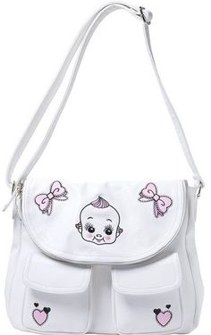 Sourpuss Doll Baby White Nomad Purse - Suicide Glam Australia