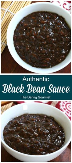 BEST Homemade Black Bean Sauce (aka Black Bean Garlic Sauce or Black Bean Paste) An incredible depth of flavor, this sauce will work magic on any dish you add it to. The the absolute BEST, you'll NEVER use store-bought again! Chinese Sauce Recipe, Korean Black Bean Sauce Recipe, Black Bean Paste, Black Bean Noodles, Best Chinese Food, Korean Food, Black Bean Recipes, Paste Recipe, Homemade Sauce