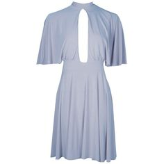 Boohoo Laura Slinky Flute Sleeve Skater Dress | Boohoo ($25) ❤ liked on Polyvore featuring dresses, white camisole, white maxi dress, white midi dress, jersey maxi dress and bodycon maxi dress
