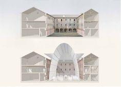 #M9 #cosa #concorso ı Massimo Carmassi: sezioni prospettiche di M9.