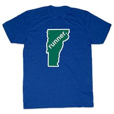 Mens Lifestyle Runners Tee Vermont Runner - Show off your pride for Vermont with this great Vermont Runner State Tee.