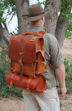 Leather Rucksack-  great shoulder straps.