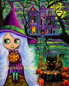"""""""Halloween Blythe and the Haunted Tree House"""" by Blonde Blythe"""