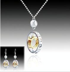 Profitez de -60% sur cette arure collier et BO en plaqué or blanc et jaune - CRISTAL/Parures -  www.mariebelle.fr