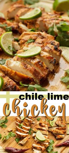 Chile lime chicken recipe from amanda. This Chile lime Chicken marinade uses red chiles, jalapeno pepper and garlic, however you control the spice level! Enjoy this delicious chicken on the grill or use your stovetop grill pan. Chile Lime Chicken, Lime Marinade For Chicken, Lime Chicken Recipes, Chicken Marinades, Mexican Food Recipes, Lime Recipes, Quick Easy Dinner, Easy Dinner Recipes, Dinner Ideas