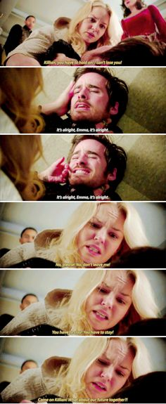 """Come on Killian! What about our future together?!"" - Killian and Emma #OnceUponATime ((NO.NO.NO.NO!!))"
