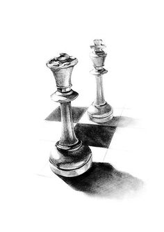 Gender chess drawing by HermesGC Drawing about a queen and a king pieces of chess