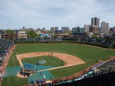 100 years old in 2014, Wrigley Field started as a Federal League ballpark but the Cubs took it over after that league folded.