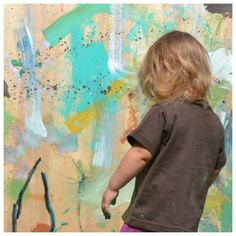 messy painting with kids