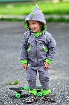 Lustige Dinosaurier-Jacke für Kinder/ funny dinosaur jacket for kids made by LoffLoff via DaWanda.com