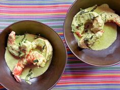 Shrimp with Simple Pumpkin Seed Sauce by huffingtonpost. Recipe from Truly Mexican by Roberto Santibanez. #Sauce #Pumpkin_Seed #Shrimp #Roberto_Santibanez #huffingtonpost