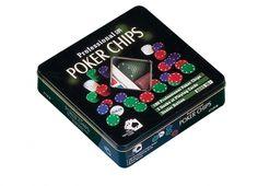SET POKER 100 FICHES. Set poker 100 fiches con anche 2 mazzi di chiavi. La confezione è in latta