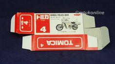 TOMICA 004F HONDA CB750 POLICE | 1/34 | ORIGINAL BOX ONLY | 1988 JAPAN