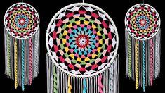 DIY Macrame Wall Hanging Dream Catcher | Wall Hanging Craft Ideas Home D... Crochet Hook Set, Crochet Yarn, Woolen Craft, Crochet Dreamcatcher, Wall Hanging Crafts, Macrame Patterns, Dream Catchers, Diy Projects, Craft Ideas