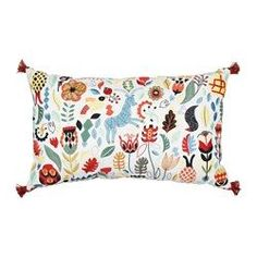 IKEA - RÖDARV, Cushion, , Embroidery adds texture and luster to the cushion.You can easily vary the look, because the two sides have different…