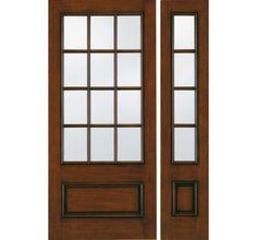 New living room front door baurora custom fiberglass for Jeld wen exterior fiberglass doors