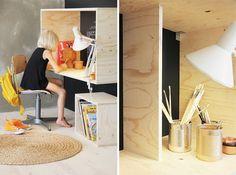 Muebles de madera y lúdico para los niños