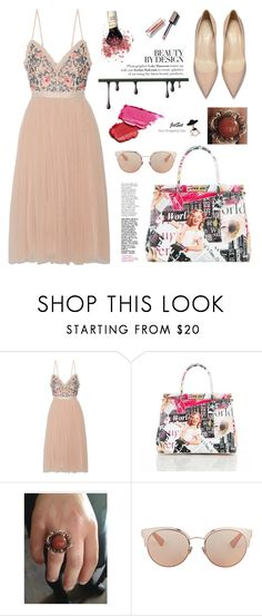 """""""JetSet Shop!"""" by samra-bv ❤ liked on Polyvore featuring Needle & Thread, Christian Dior, Summer, chic, bag, Elegance and summervibes"""