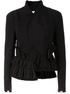 Shop Givenchy asymmetric ruffled peplum jacket in Stefania Mode from the world's best independent boutiques at farfetch.com. Over 1000 designers from 300 boutiques in one website.