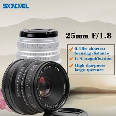 59.90$  Watch here - http://aidyg.worlditems.win/all/product.php?id=32798741778 - Black/Sliver 25mm F/1.8 HD MC Lens for Fujifilm FX Camera X-T10 X-T2 X-PRO2 X-PRO1 X-E2 X-E1 X-M1 X-A3