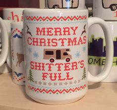 Merry Christmas Shitter& Full 15 ounce or 11 ounce Coffee Mug/Cup Christmas Vacation quote w/gift box Clark Griswold Family Clark Griswold, Griswold Family, Christmas Vacation Quotes, Best Movie Quotes, Sunday Paper, Beer Opener, Merry Christmas, Christmas 2017, Dogue De Bordeaux