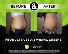 It Works - results after 3 tummy wraps and Greens