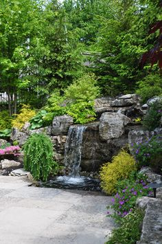 Would love to have something like this down to the stream in the back yard. I can dream can't I? Three Dogs in a Garden: Ideas for Gardens with an Uneven Terrain