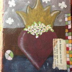 No.4 #100daysofhearts #artjournal #paint #heart #4down96moretogo