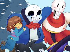 Fun in snowdin by Kaya-96